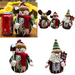 3PCS Christmas Decor Dolls Santa Claus Snowman Reindeer Hang