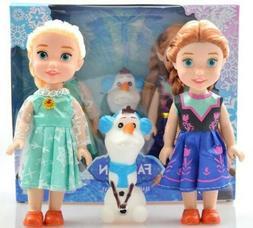 3pcs Frozen Princess Disney. 7 inch Anna Elsa Doll Toy