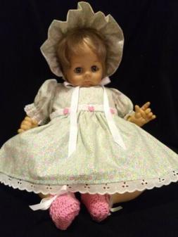 "4 PIECE CALICO DRESS SET FOR 22"" MADAME ALEXANDER BABY DOLL"