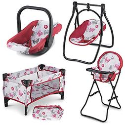 Litti Pritti 4 Piece Set Baby Doll Accessories - Includes Ba