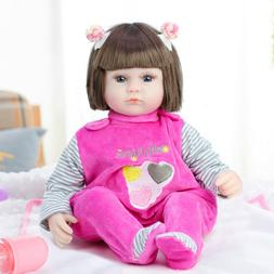 45cm Real Life Reborn Newborn Lifelike Body Soft Vinyl Silic