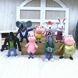 45D6 8Pcs/set Movie Sing Cartoon Figure Action Toys 7-10cm M