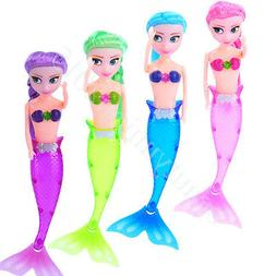 4pcs LED Light Mermaid Toys dolls For Child Boy Girl Waterpr