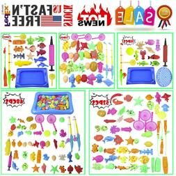 52PC Bathing Dolls Toys For Kids Fishing Magnetic Floating F