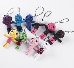 5pcs many Style Voodoo <font><b>Doll</b></font> Keychains li
