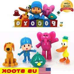 5pcs Pocoyo Zinkia Cake Decoration topper Playset Doll Figur