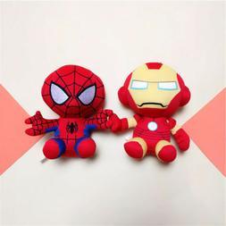 "6"" 15cm Avengers Iron Man Spider-Man Plush Doll Super Hero F"