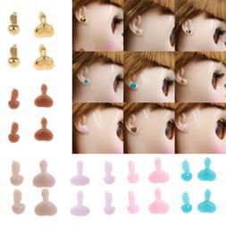 6 Colors Heart-Shape Ear Stud for 12inch Blythe Takara Dolls