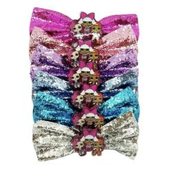 6 count dolls party favors glitter bows