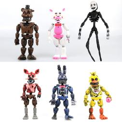"6 PCS Five Nights At Freddy's FNAF Bunnie Game 6"" Action Fig"