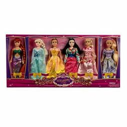 """6-Piece 11.5"""" Princess Gift Set Dolls Toy Collection"""