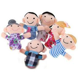 6Pc Family Finger Puppets Dolls Baby Educational Hand Cartoo