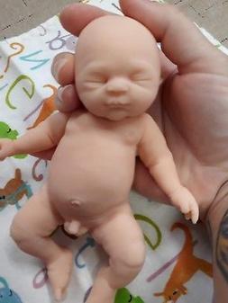 "7"" Unpainted Micro Preemie Full Body Silicone Baby Boy Doll"