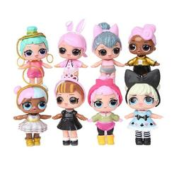 8 Set LOL Surprise Dolls Figures Cake Toppers Toys Kids Gift