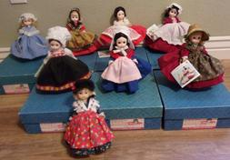 8 VINTAGE MADAME ALEXANDER DOLLS INTERNATIONAL WORLD DOLL LO