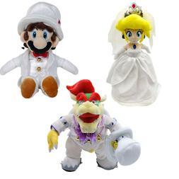 "9""-14"" Super Mario Odyssey Bowser Princess Peach Plush Doll"