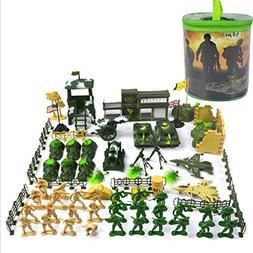 90pcs Playset Plastic Toy Soldier Army Men 5cm Figures Acces