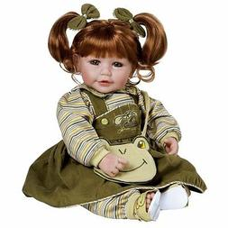"""Adora Toddler Froggy Fun Girl 20"""" Girl Weighted Doll Gift Se"""