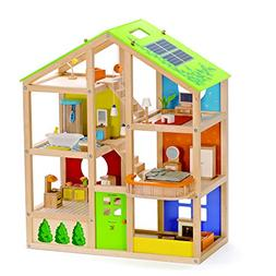 All Seasons Kids Wooden Dollhouse by Hape | Award Winning 3