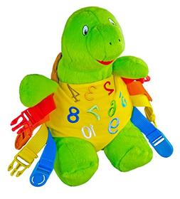 """BUCKLE TOY """"Bucky"""" Turtle - Toddler Early Learning Basic Lif"""