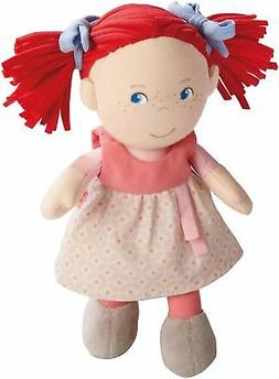 "HABA Soft Doll Mirli 8"" - First Baby Doll with Red Pigtails"