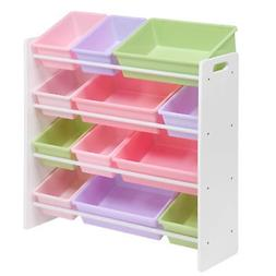 Honey-Can-Do SRT-01603 Kids Toy Organizer and Storage Bins,