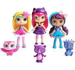 """Little Charmers Best Friends 3pk, 3"""" Posie, Hazel, and Laven"""