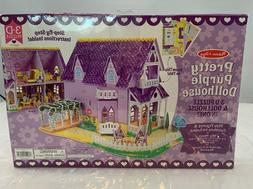 Melissa & Doug Pretty Purple Dollhouse 3-D Puzzle