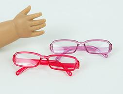 "Pink and Purple Framed Glasses | Fits 18"" American Girl Doll"