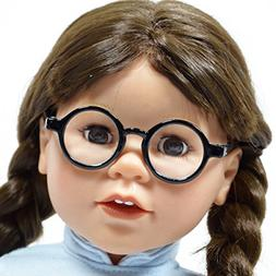 Set of 2 Solid Round Glasses for 18'' Doll - Doll Glasses Fi