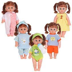 Set of 5 for 11-12-13-14 Inch Newborn Reborn Alive Doll Baby