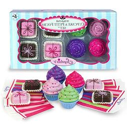 """Sophia's 18"""" Doll Play Food Cupcakes, Petit Fours and Napkin"""