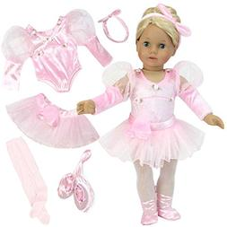 Sophia's 18 inch doll Clothes 5 Pc. Ballet Set fits American