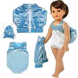 Sophia's 3 PC. Gymnastics Leotard, Jacket, and Bag, Doll Gym