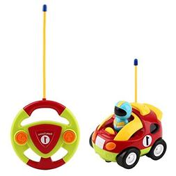 YKS Cartoon R/C Race Car Radio Control Toy for Toddlers and