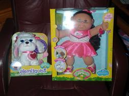 Cabbage Patch Kids Adoptimal Doll Brown Hair Green Eyes Hear