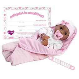 """Adora Adoption Baby """"Joy"""" 16 Inch Vinyl Girl Newborn Weighte"""