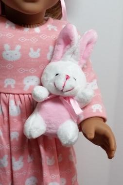 Adorable Plush Bunny Sized For your American Girl or other 1