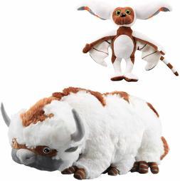 "Airbender 18"" Appa & 11"" Momo Plush Toy Soft Stuffed Animals"