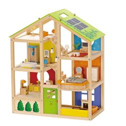 Hape All Season House Furnished Kids Toddler Toy Wooden Doll