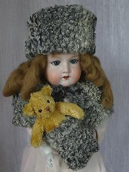 AllforDoll Karakul fur Set for Antique Repro Jumeau Armand M