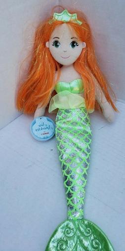 Aurora Amber Doll World Sea Sparkles Mermaid Plush Jewel Ora