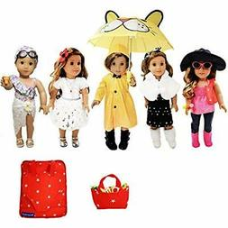 33 Piece American Girl Doll Accessories 18 inch Clothes Set