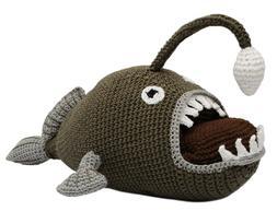 Anglerfish Hand Knitted Doll Angler Fish Handmade Amigurumi