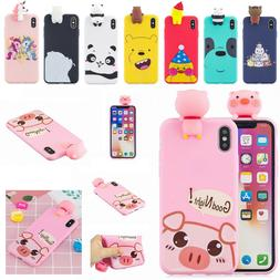 For Apple iPhone XS Max XR X 7 8 Plus Cute Doll Rubber silic