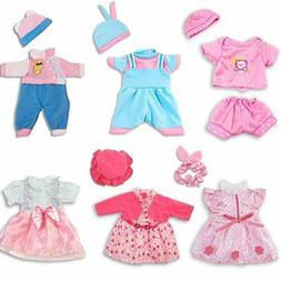 ARTST Doll Clothes,12 inch Baby Doll ClothesInclude 4 Hats +