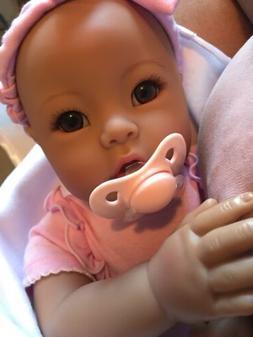 Asian Biracial Babydoll + Adora Babytime lavender Lifelike R