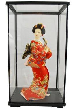 Dolls Authentic Japanese Geisha Vintage 9 inches-with case#4