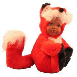 """""""Babes In The Wild"""" Plush Doll with Porcelain Face: Dark Fox"""