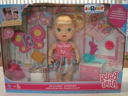Baby Alive BUTTERFLY PARTY BABY DOLL BLONDE TRU EXCLUSIVE NE